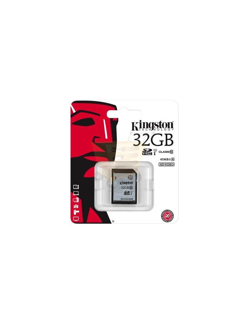 Memoria Kingston 32GB SDHC Class10 UHS-I 45MB/s Read Flash Card