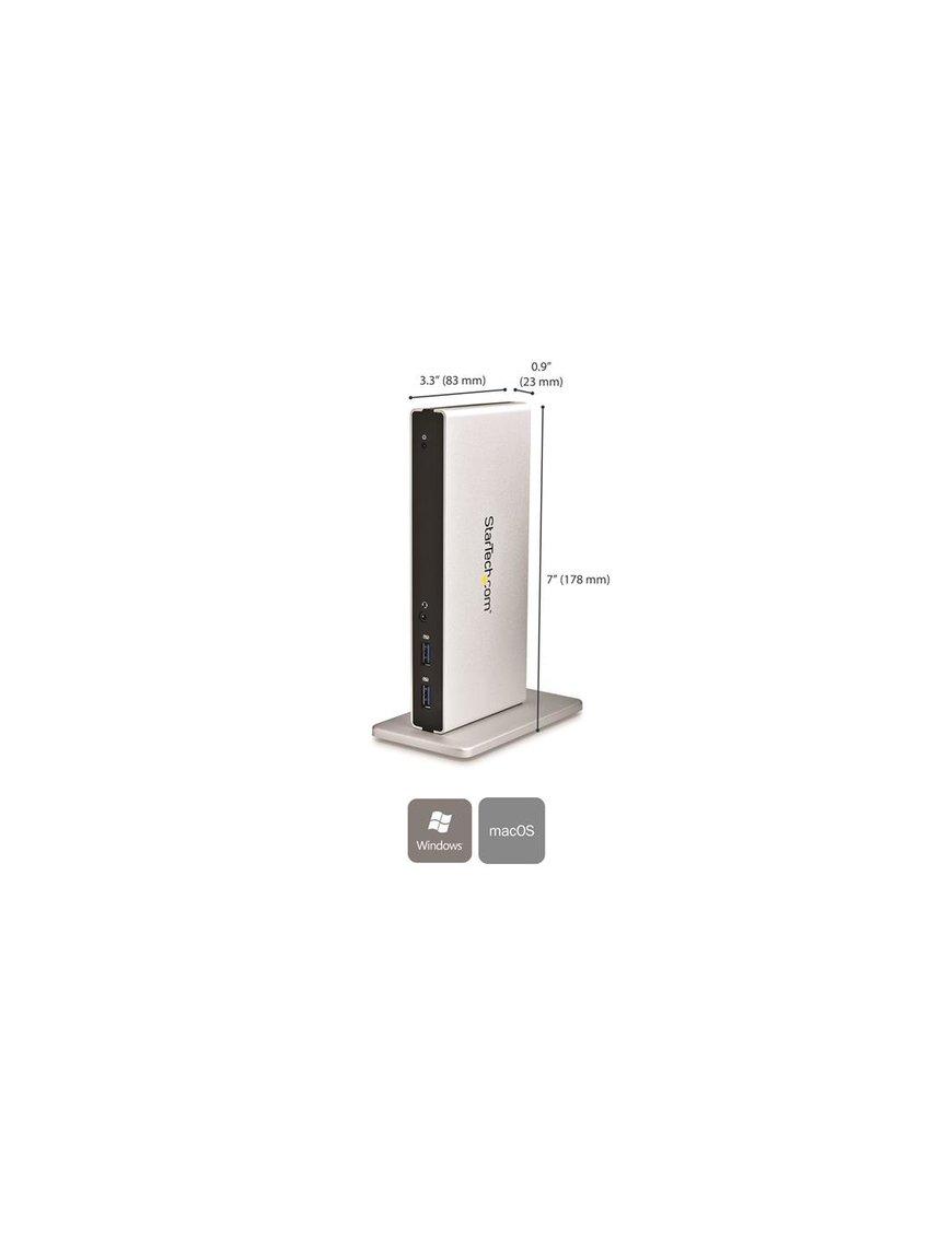 Base Conexion USB 3.0 Doble DVI Ethernet - Imagen 3