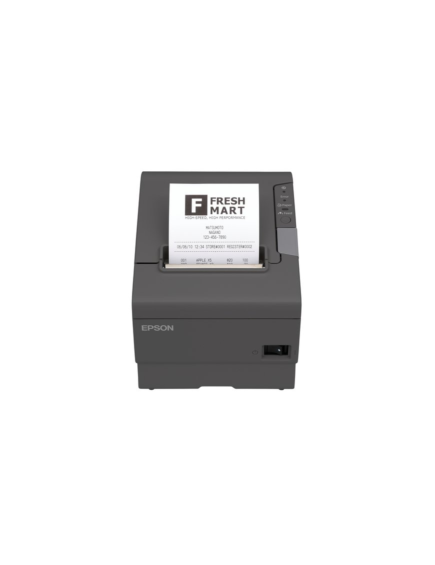 Epson TM T88V - Impresora de recibos - monocromo - línea térmica - rollo 8 cm - hasta 300 mm/segundo - USB, serial - Imagen 1