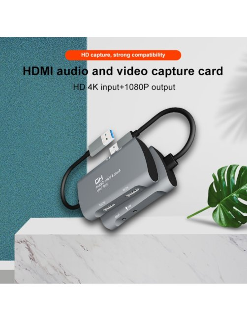 Capturadora de video Z30 HDMI  + Mic HDMI + Audio + USB 2.0