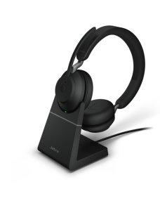 Jabra Evolve2 65 UC Stereo - Auricular - en oreja - Bluetooth - inalámbrico - USB-C - aislamiento de ruido - negro - con base de