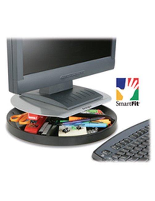 Kensington Spin2 Monitor Stand with SmartFit System - Plataforma giratoria para pantalla LCD - negro, plata - escritorio - Image