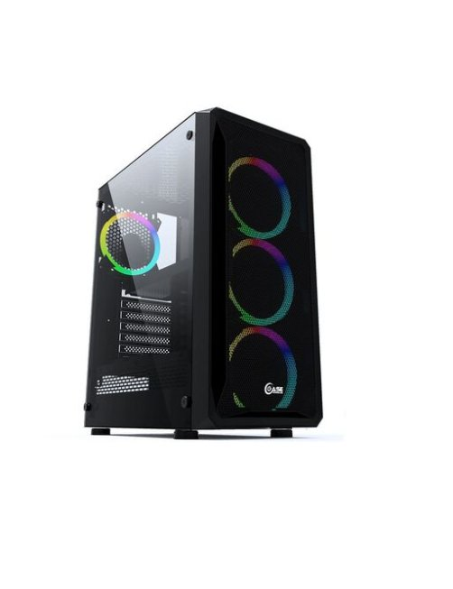 PCTronix - Mid tower - ATX - Black - JX188-9 JX188-9